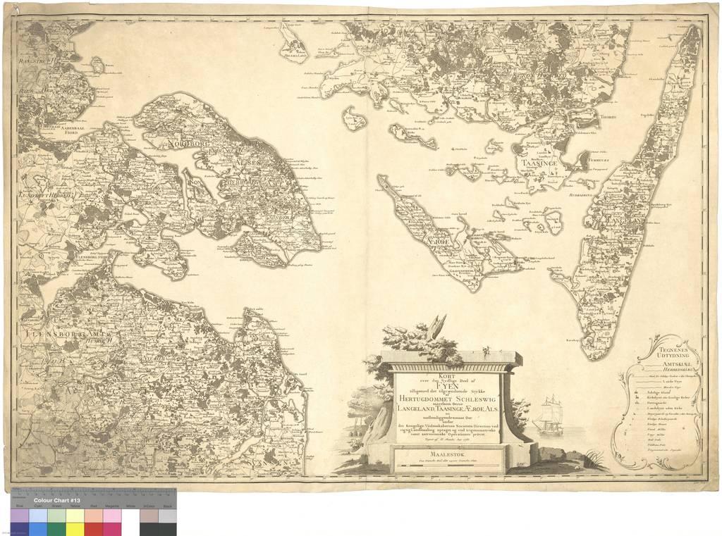 Kort Over Den Sydlige Deel Af Fyen Tilligemed Det Tilgraendsende