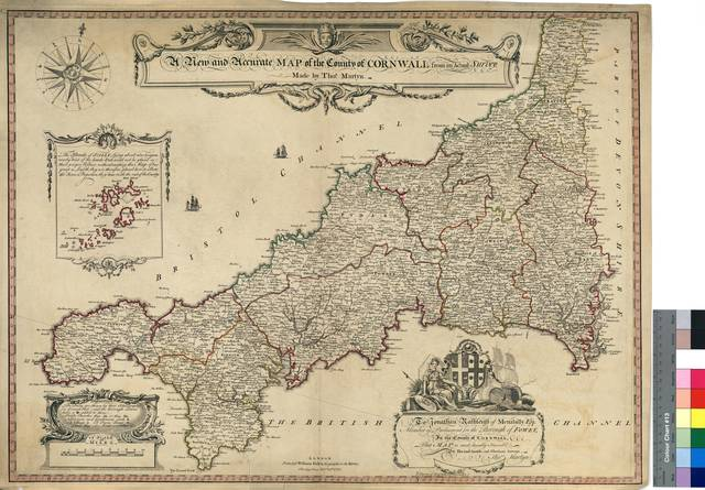 A New and Accurate Map of the County of Cornwall : from an Actual Survey [Mapa]