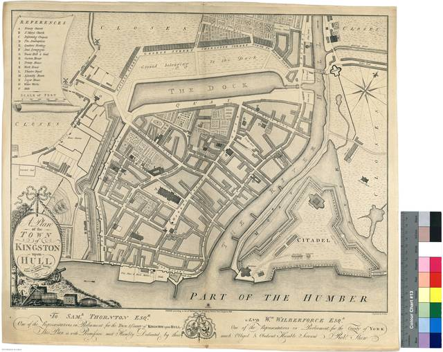 A Plan of the Town of Kingston upon Hull : From an Actual Survey, 1784 [Mapa]