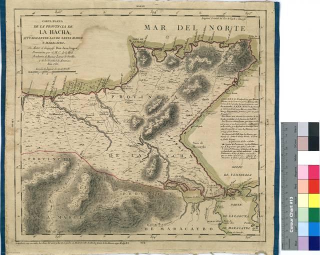 Carta plano de la provincia de La Hacha : situada entre las de Santa Marta y Maracaybo