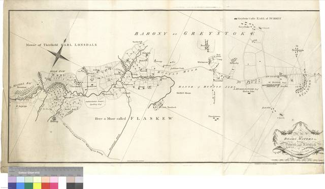 A Map of the Roads, Waters &c. between Penrith and Keswick [Mapa]