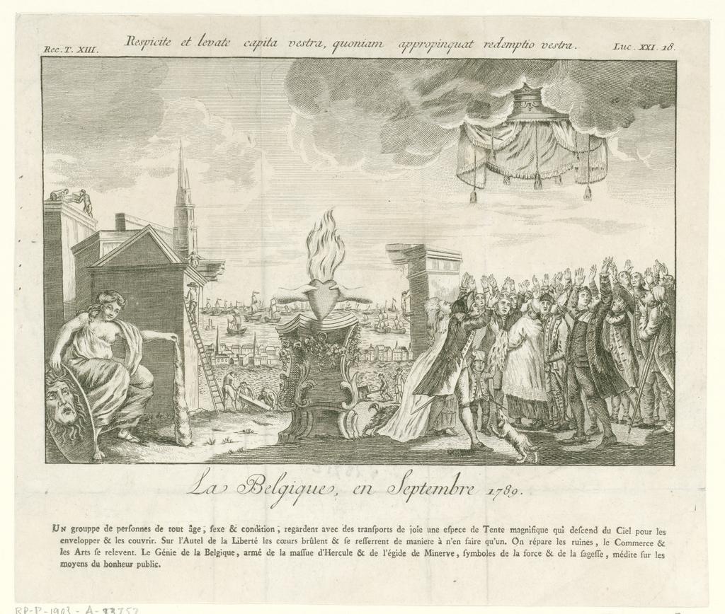 Allegorie op de Brabantse Omwenteling, 1789