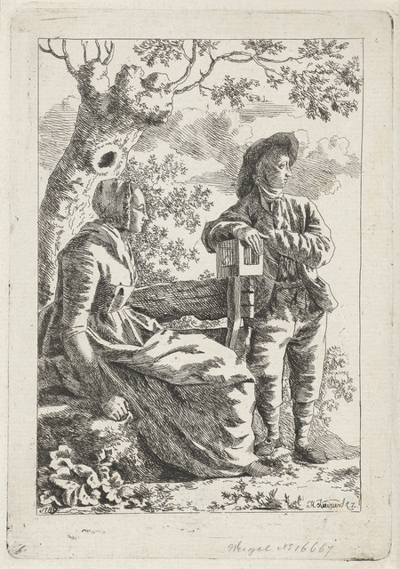 Man en een vrouw bij een boom