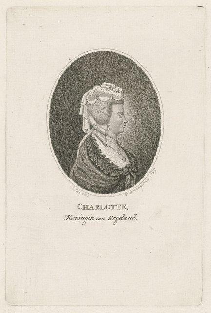 Portret van Charlotte van Mecklenburg, koningin van Groot-Britannië en Ierland