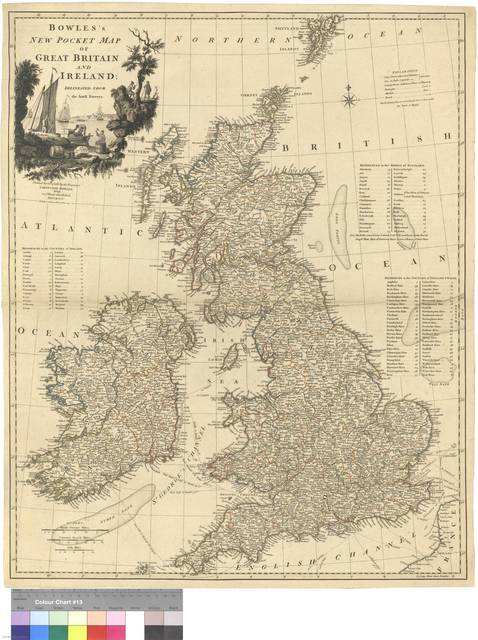 Bowles's New Pocket Map of Great Britain and Irland : delineated from the latest Surveys
