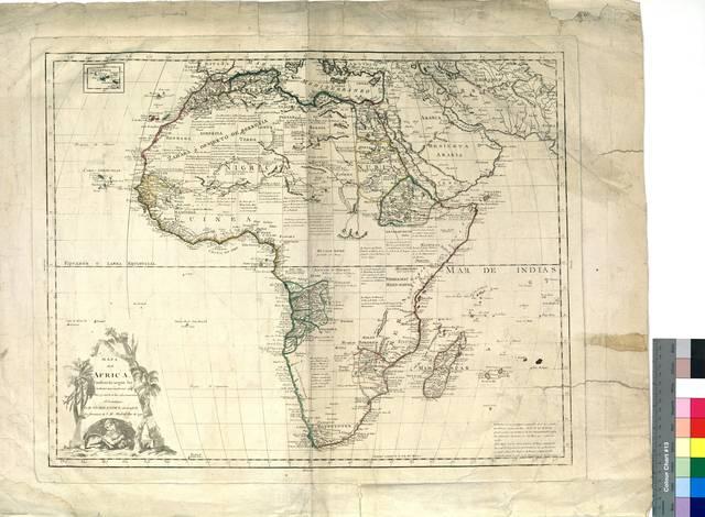 Mapa de Africa : Construído según las noticias mas modernas y ciertas y sujeto a las observaciones Astronómicas