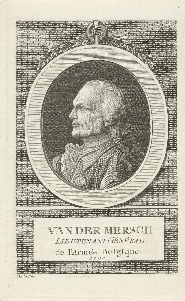 Portret van Jean André van der Mersch
