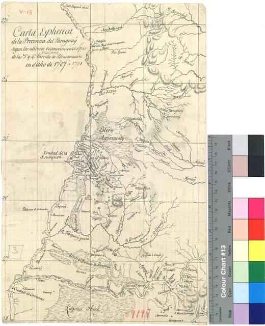 Carta Espherica de la Provincia del Paraguay : segun los ultimos reconocimientos particulares de la 3a. y 4a. Partida de Demarcación en el año de 1787 á 1791