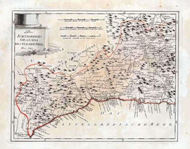 Des [i.e. = Das]koenigreichs Granada westlicher theil [Material cartográfico] : Nro. 543