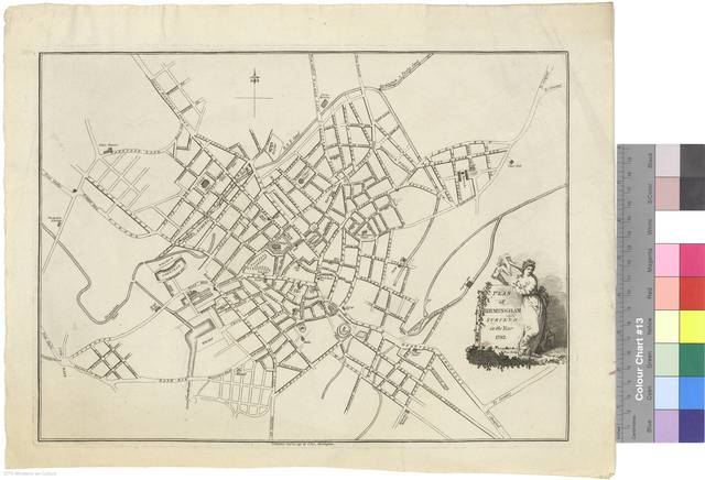 Plan of Birmingham : surveyed in the Year 1792 [Mapa]