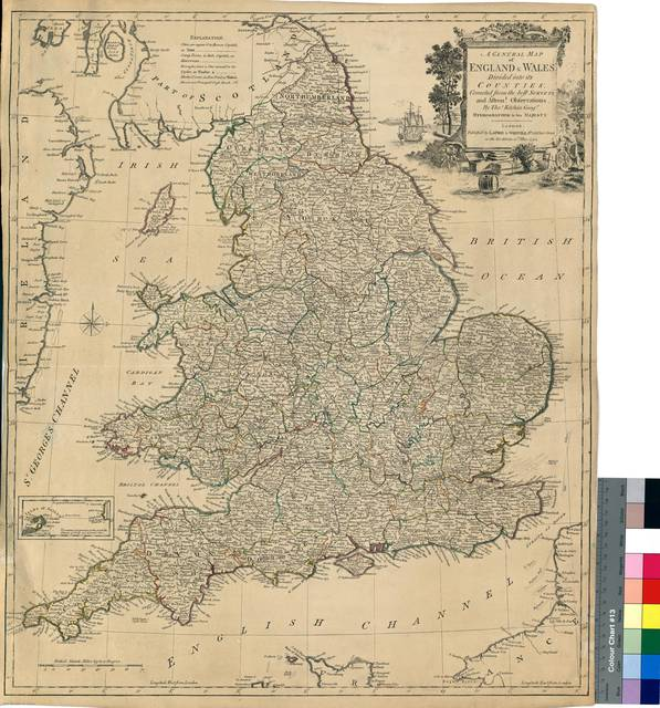 A General Map of England & Wales Divided into its counties : corrected from the best surveys and Astront. Observation [Mapa]
