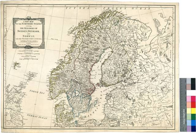 A New Map of the Northern States containing the Kingdoms of Sweden, Denmark and Norway, with the Western Parts of Russia, Livonia, Courland & ca. [Mapa]