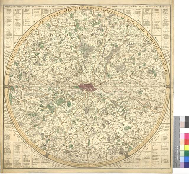 Paterson's twenty four miles round London with reference to seats of the Nobility and Gentry [Mapa]