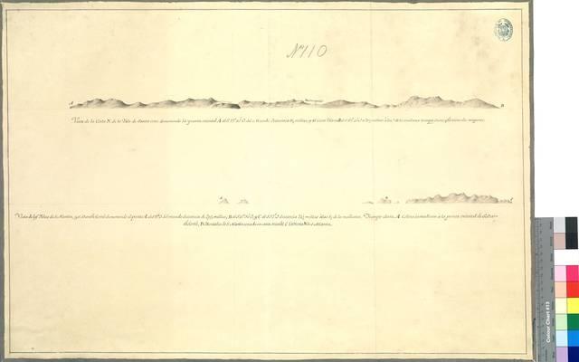 Vista de la Costa N. de la Ysla de Santa Cruz ; Vista de las Yslas de S. Martín y S. Bartholomé
