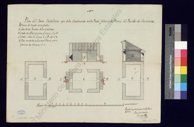 Plan del Orno castellano que debe construirse en la Real Fábrica de Plomo del Presidio de Andarax [Material gráfico no proyectable]