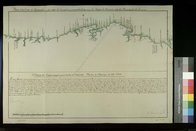 Plano de la Costa de Santander o del Mar de Cantabria compehendida entre la Raya de Vizcaya, y la del Principado de Asturias [Material cartográfico]