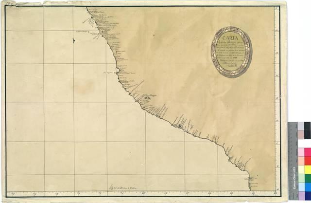 Carta Esferica Reducida que contiene las Costas del Perú : comprehendida entre los 11° y 19° de Latd. meridional [Mapa]