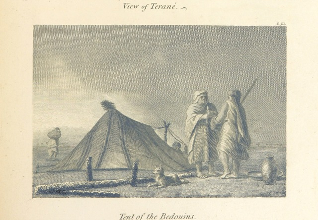 "Bedouins from ""Travels in Upper and Lower Egypt, undertaken by order of the old government of France ... Translated from the French [by - Monk?]. (Hilaria Hunteriana [strictures on Dr. Hunter's translation of these travels].)"""
