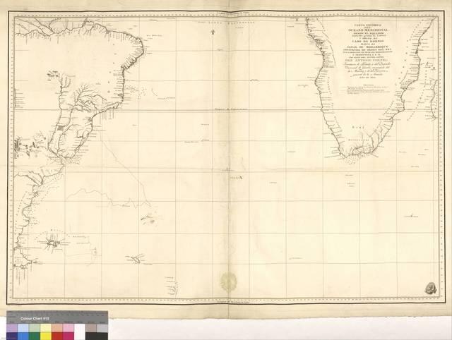 Carta Esferica del Oceáno Meridional : desde el Equador hasta 60 grados de latitud y desde el cabo de Hornos hasta el de Mozambique