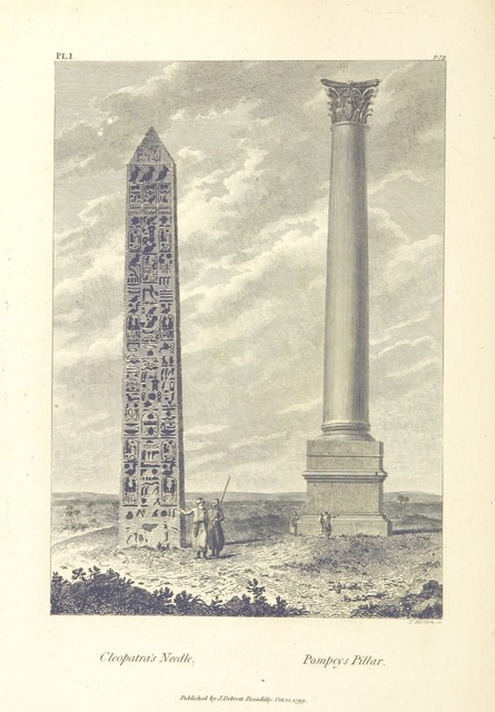 "Cleopatra's Needle from ""Travels in Upper and Lower Egypt, undertaken by order of the old government of France ... Translated from the French [by - Monk?]. (Hilaria Hunteriana [strictures on Dr. Hunter's translation of these travels].)"""
