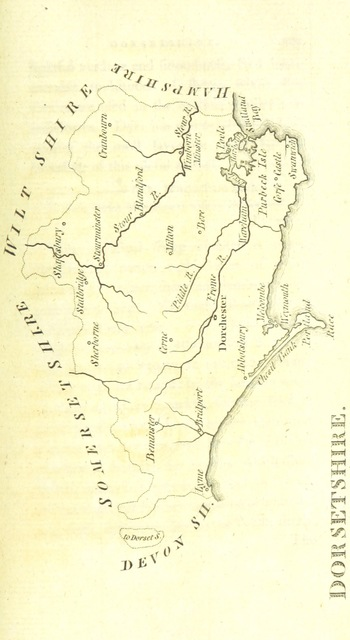 """Dorsetshire from """"[England Delineated; or, a Geographical description of every county in England and Wales; with a concise account of its most important products, natural and artificial. For the use of young persons.]"""""""
