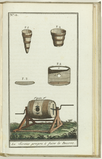 Le Mois, Journal historique, littéraire et critique, avec figures, Tome IV No. 12 / An.8: La serene propre a faire le Beurre