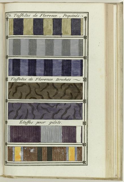 Le Mois, Journal historique, littéraire et critique, avec figures, Tome IV, No. 12 / An.8: Taffetas de Florence