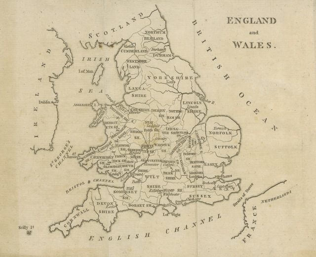 """map from """"[England Delineated; or, a Geographical description of every county in England and Wales; with a concise account of its most important products, natural and artificial. For the use of young persons.]"""""""