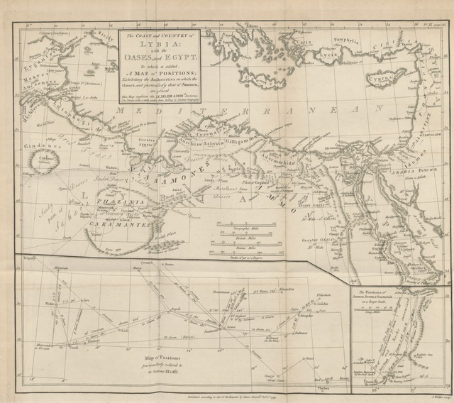 """map from """"The Geographical System of Herodotus examined and explained by a comparison with those of other ancient authors, and with modern geography. In the course of the work are introduced, dissertations on the itinerary state of the Greeks, the expedition of Darius Hystaspes to Scythia, the position ... of ancient Babylon, ... and other subjects of history and geography. The whole explained by eleven maps, etc"""""""
