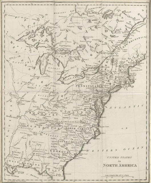 "map from ""[Travels through the United States of North America, the country of the Iroquois and Upper Canada, in the years 1795, 1796 and 1797. [Translated from the French by H. Neuman.]]"""