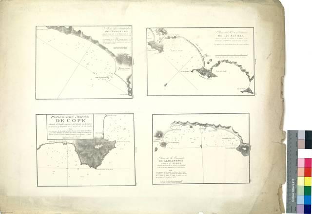 Plano del Fondeadero de Carbonera ; Plano del Puerto y Población de Las Águilas ; Plano del Monte de Cope ; Plano de la Ensenada de Almazarron : Murcia