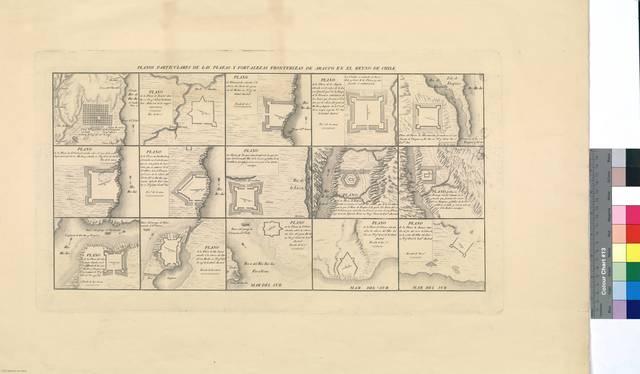 Planos particulares de las plazas y fortalezas fronterizas de Arauco en el Reyno de Chile [Mapa]