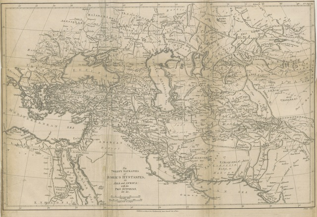"""Scythias from """"The Geographical System of Herodotus examined and explained by a comparison with those of other ancient authors, and with modern geography. In the course of the work are introduced, dissertations on the itinerary state of the Greeks, the expedition of Darius Hystaspes to Scythia, the position ... of ancient Babylon, ... and other subjects of history and geography. The whole explained by eleven maps, etc"""""""