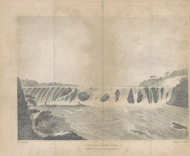 "waterfall from ""[Travels through the States of North America, and the Provinces of Upper and Lower Canada, during the years 1795, 1796, and 1797.]"""