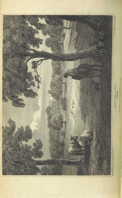 """Benacre Hall from """"[The Beauties of England and Wales; or, Delineations, topographical, historical, and descriptive, of each country. Embellished with engravings. (vol. 1-6 by E. W. Brayley and J. Britton; vol. 7 by E. W. Brayley; vol. 8 by E. W. Brayley; vol. 9 by J. Britton; vol. 10, pt. 1, 2, by E. W. Brayley; vol. 10, pt. 3 by the Rev. Joseph Nightingale; vol. 10, pt. 4 by J. Norris Brewer; vol. 11 by the Rev. J. Evans and J. Britton; vol. 12, pt. 1 by the Rev. J. Hodgson and Mr. F. C. Laird; vol. 12, pt. 2 by J. N. Brewer; vol. 13 by the Rev. J. Nightingale; vol. 14 by Frederic Shoberl; vol. 15 by J. Britton, J. Norris Brewer, J. Hodgson, F. C. Laird; vol. 16 by John Bigland; vol. 17 by the Rev. J. Evans; vol. 18 by Thomas Rees.) L.P.]"""""""