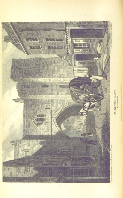 """Clerkenwell from """"[The Beauties of England and Wales; or, Delineations, topographical, historical, and descriptive, of each country. Embellished with engravings. (vol. 1-6 by E. W. Brayley and J. Britton; vol. 7 by E. W. Brayley; vol. 8 by E. W. Brayley; vol. 9 by J. Britton; vol. 10, pt. 1, 2, by E. W. Brayley; vol. 10, pt. 3 by the Rev. Joseph Nightingale; vol. 10, pt. 4 by J. Norris Brewer; vol. 11 by the Rev. J. Evans and J. Britton; vol. 12, pt. 1 by the Rev. J. Hodgson and Mr. F. C. Laird; vol. 12, pt. 2 by J. N. Brewer; vol. 13 by the Rev. J. Nightingale; vol. 14 by Frederic Shoberl; vol. 15 by J. Britton, J. Norris Brewer, J. Hodgson, F. C. Laird; vol. 16 by John Bigland; vol. 17 by the Rev. J. Evans; vol. 18 by Thomas Rees.) L.P.]"""""""