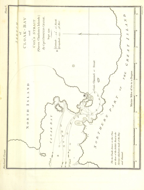 "map from ""A Voyage round the World, performed during the years 1790, 1791, and 1792, by Étienne Marchand, preceded by a historical introduction, and illustrated by charts, etc. Translated from the French, etc. (Journal of the route ... by Captain P. Chanal.)"""