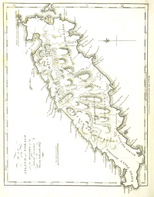 """map from """"[An historical survey of the French Colony in the Island of St Domingo: comprehending a short account of its ancient government ... a narrative of the calamities ... since ... 1789 ... and a detail of the military transactions of the British Army ... to the end of 1794.]"""""""