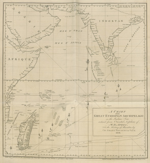 "map from ""The History of Mauritius, or the Isle of France, and the neighbouring islands from their first discovery to the present time, composed principally from the papers and memoirs of Baron Grant ... by his son, C. G. [assisted by W. Combe]. Illustrated with maps"""