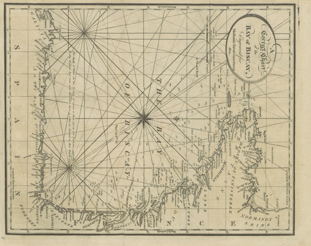 """map from """"[The naval gazetteer; or, Seaman's complete guide ... First American edition.]"""""""