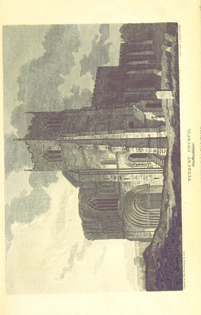 """Tutbury from """"[The Beauties of England and Wales; or, Delineations, topographical, historical, and descriptive, of each country. Embellished with engravings. (vol. 1-6 by E. W. Brayley and J. Britton; vol. 7 by E. W. Brayley; vol. 8 by E. W. Brayley; vol. 9 by J. Britton; vol. 10, pt. 1, 2, by E. W. Brayley; vol. 10, pt. 3 by the Rev. Joseph Nightingale; vol. 10, pt. 4 by J. Norris Brewer; vol. 11 by the Rev. J. Evans and J. Britton; vol. 12, pt. 1 by the Rev. J. Hodgson and Mr. F. C. Laird; vol. 12, pt. 2 by J. N. Brewer; vol. 13 by the Rev. J. Nightingale; vol. 14 by Frederic Shoberl; vol. 15 by J. Britton, J. Norris Brewer, J. Hodgson, F. C. Laird; vol. 16 by John Bigland; vol. 17 by the Rev. J. Evans; vol. 18 by Thomas Rees.) L.P.]"""""""