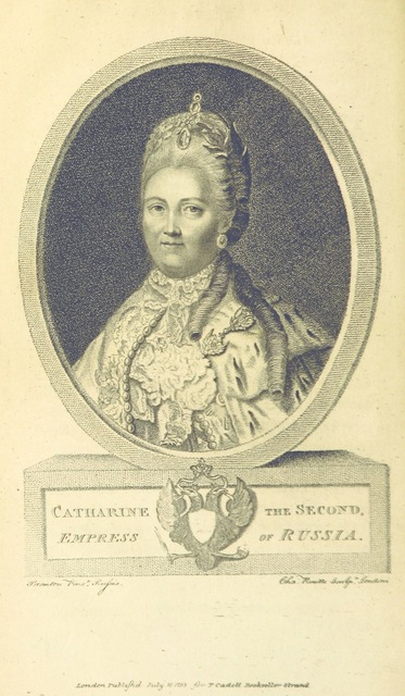 "Catherine the Great from ""[Travels into Poland, Russia, Sweden, and Denmark. Interspersed with historical relations and political inquiries. Illustrated with charts and engravings.]"""