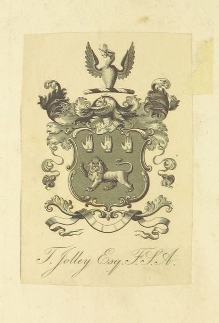 """coat of arms from """"Henry and Almeria; a tragedy in five acts. [In verse.]"""""""