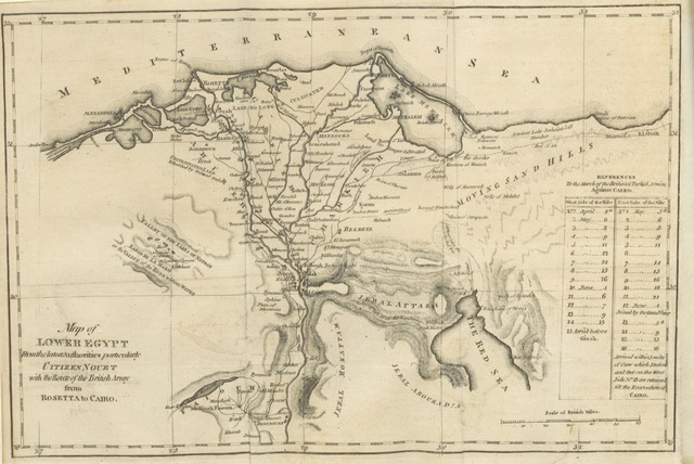 """Egypt from """"The History of the rise and progress of the Revolution in France, with an impartial and concise account of the late war ... By the same society that compiled the Edinburgh New Geographical Grammar. Embellished with select maps, illustrative of the marches and countermarches of the belligerent powers"""""""