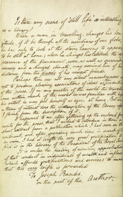 "manuscript from ""Fragments of letters and other papers, written in different parts of Europe, at sea, and on the Asiatic and African coasts ... of the Mediterranean, etc. [With a MS. letter from the author to Sir Joseph Banks.]"""
