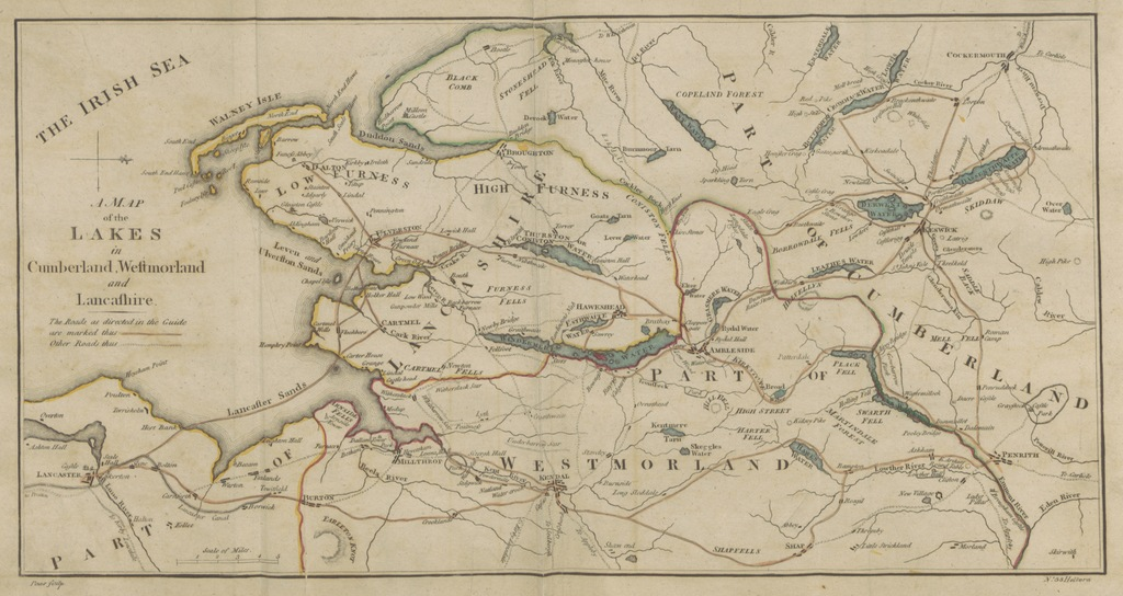 """map from """"[A Guide to the Lakes ... Sixth edition. [With plates.]]"""""""