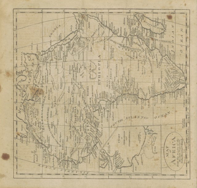 "map from ""A New Gazetteer of the Eastern Continent; or a Geographical Dictionary: containing ... a description of all the countries, kingdoms, states ... &c. in Europe, Asia, Africa, and their adjacent Islands ... Illustrated with eighteen maps. Designed as a second volume, to the American Gazetteer"""
