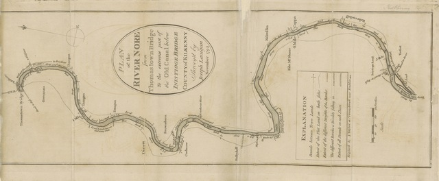 "map from ""Statistical observations relative to the county of Kilkenny, made in the years 1800 and 1801. (Appendix.)"""