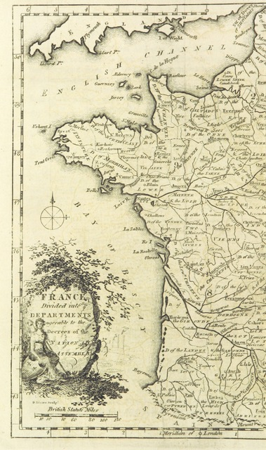 """map from """"The History of the rise and progress of the Revolution in France, with an impartial and concise account of the late war ... By the same society that compiled the Edinburgh New Geographical Grammar. Embellished with select maps, illustrative of the marches and countermarches of the belligerent powers"""""""