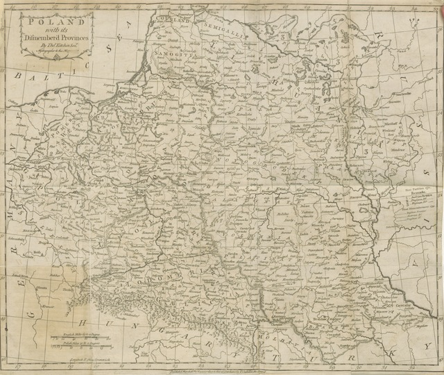 "map from ""[Travels into Poland, Russia, Sweden, and Denmark. Interspersed with historical relations and political inquiries. Illustrated with charts and engravings.]"""